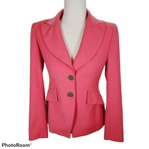 Bazar Christian Lacroix Pink Fitted Wool Blazer 36